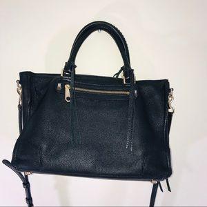 Rebecca Minkoff Black Leather Regan Satchel